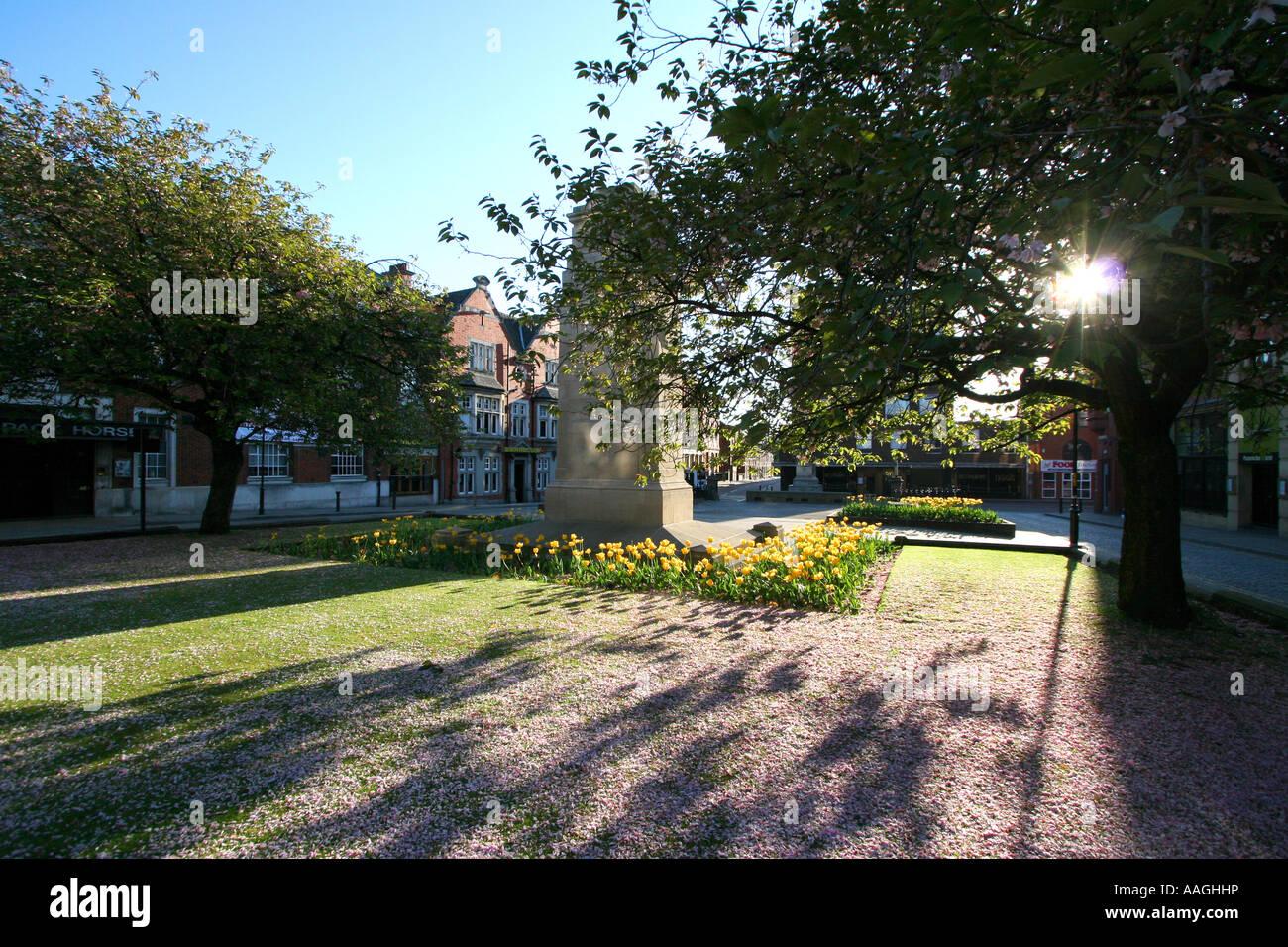 """Nelson Square Bolton Lancashire at dawn"" - Stock Image"