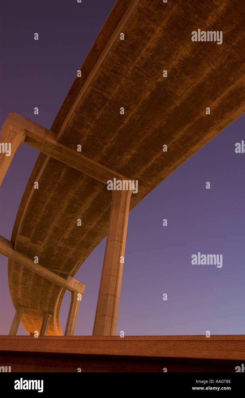 Freeway interchange Los Angeles California - Stock Image