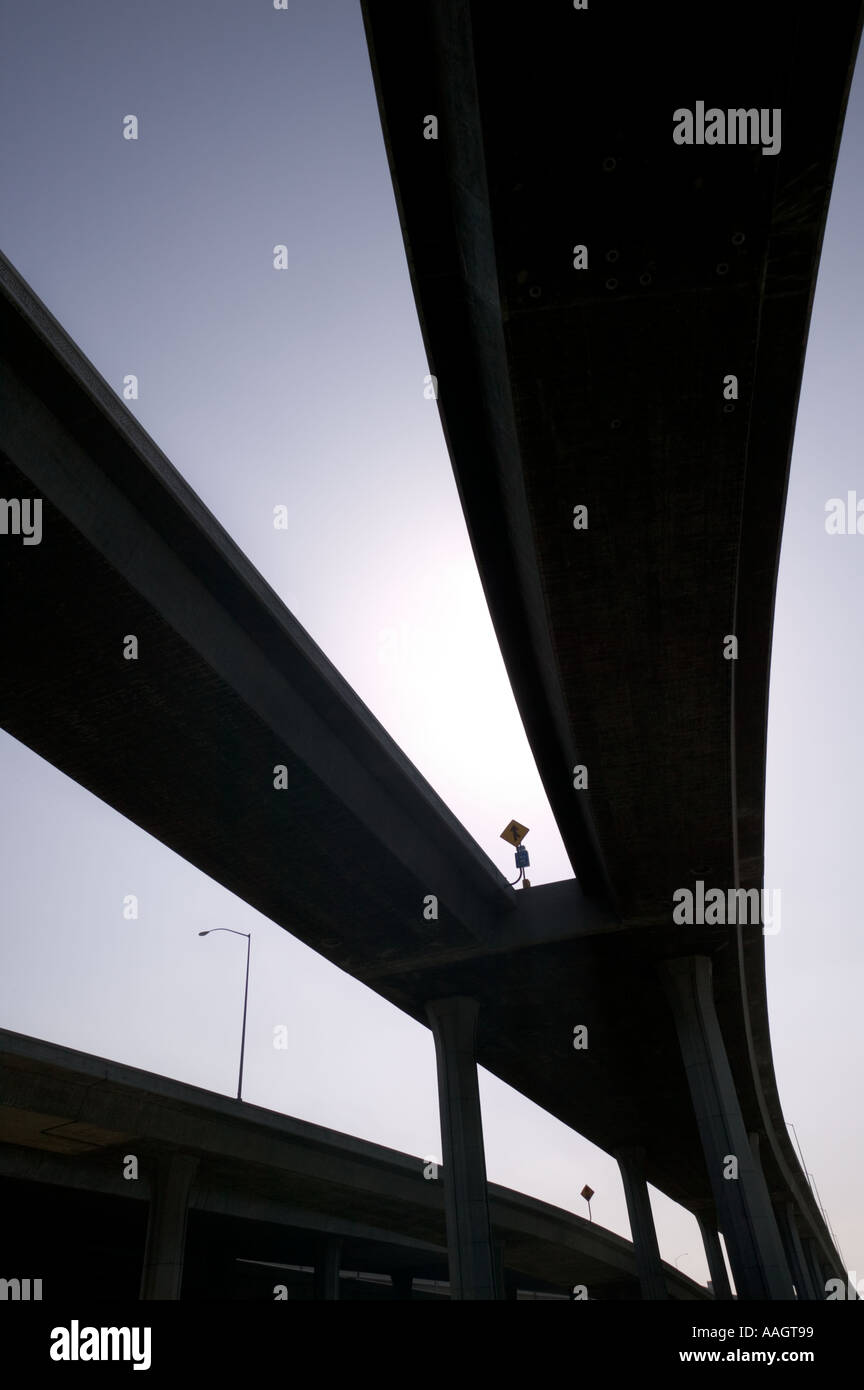 Freeway interchange Los Angeles California - Stock Image