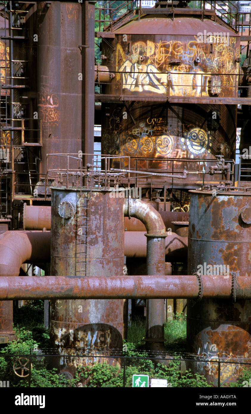 The no longer used Power Plant in Gas Work Park Seattle Washington USA - Stock Image