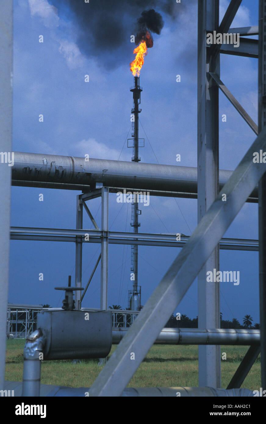 Nigerian Oil Refinery - Stock Image