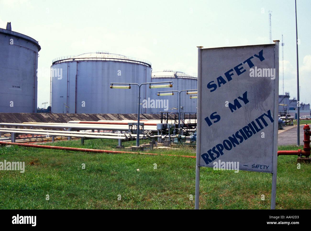 Oil Refinery, Port Harcourt, Nigeria - Stock Image