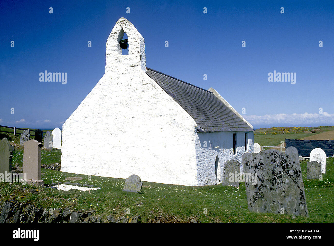 Church of the Holy Cross at Mwnt Cardiganshire Mid Wales - Stock Image