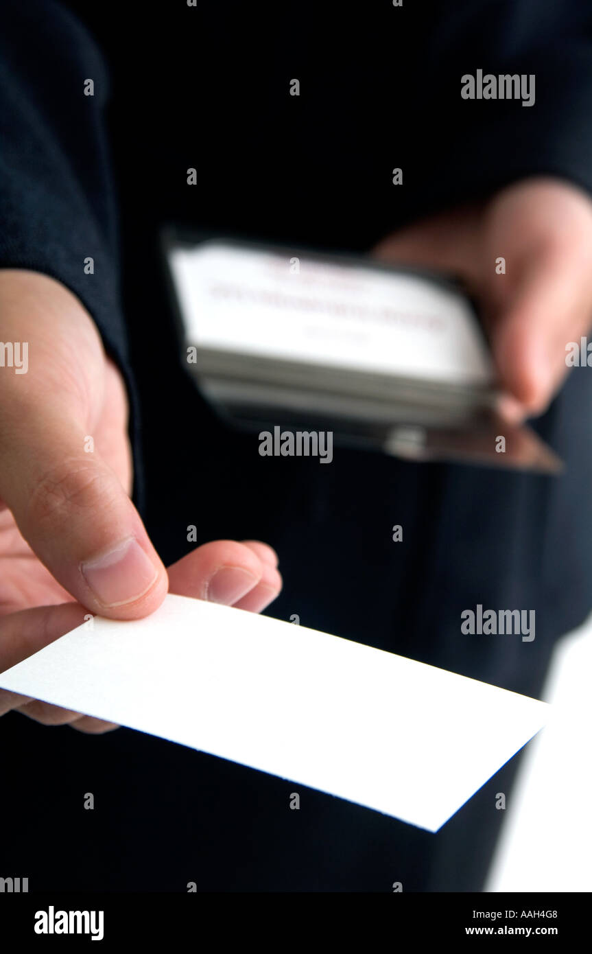 Businessman handing out business cards stock photo 7217159 alamy businessman handing out business cards colourmoves