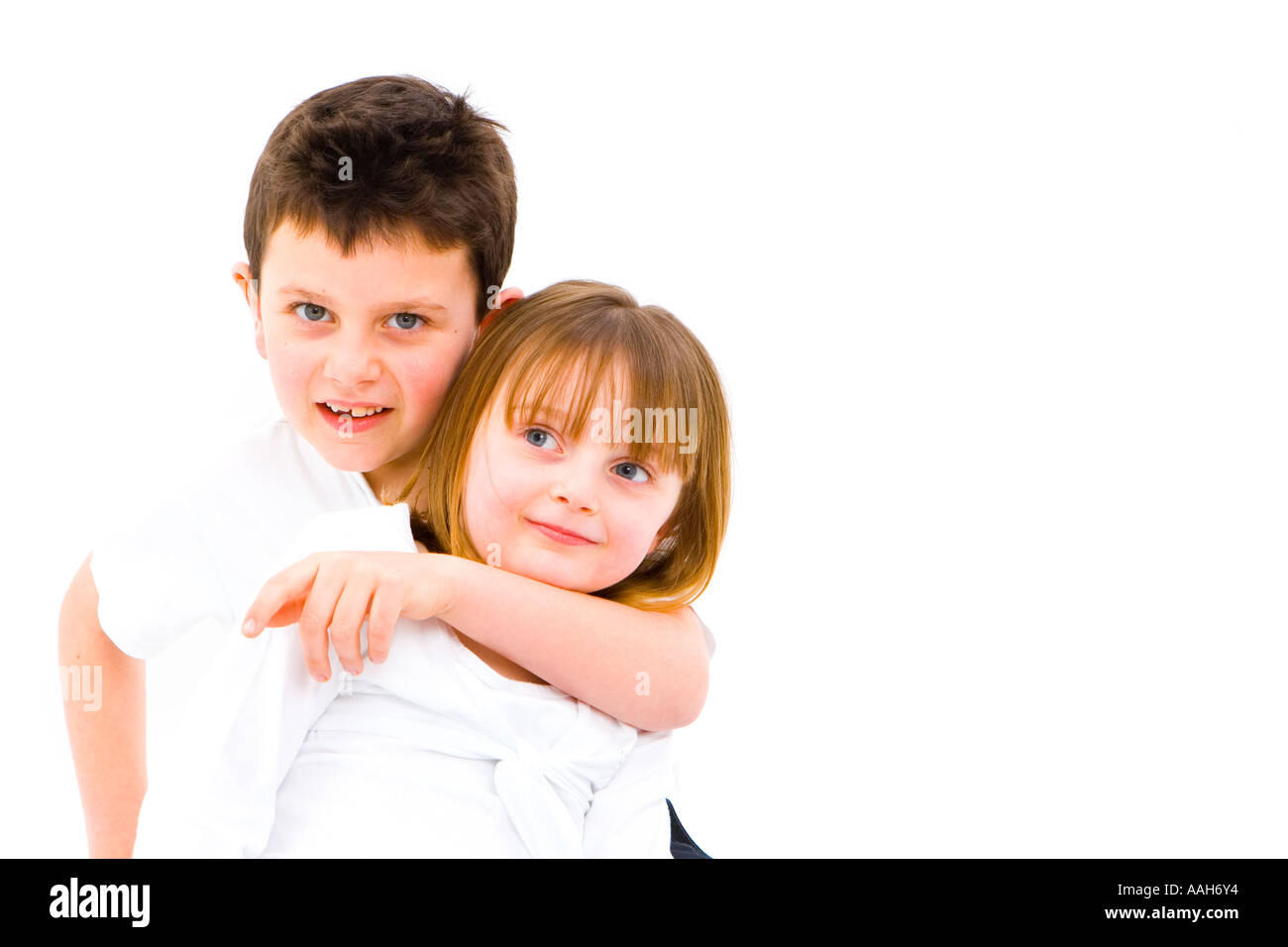 Children Boy Girl Brother Sister Fun Happiness Love Tenterness Hug