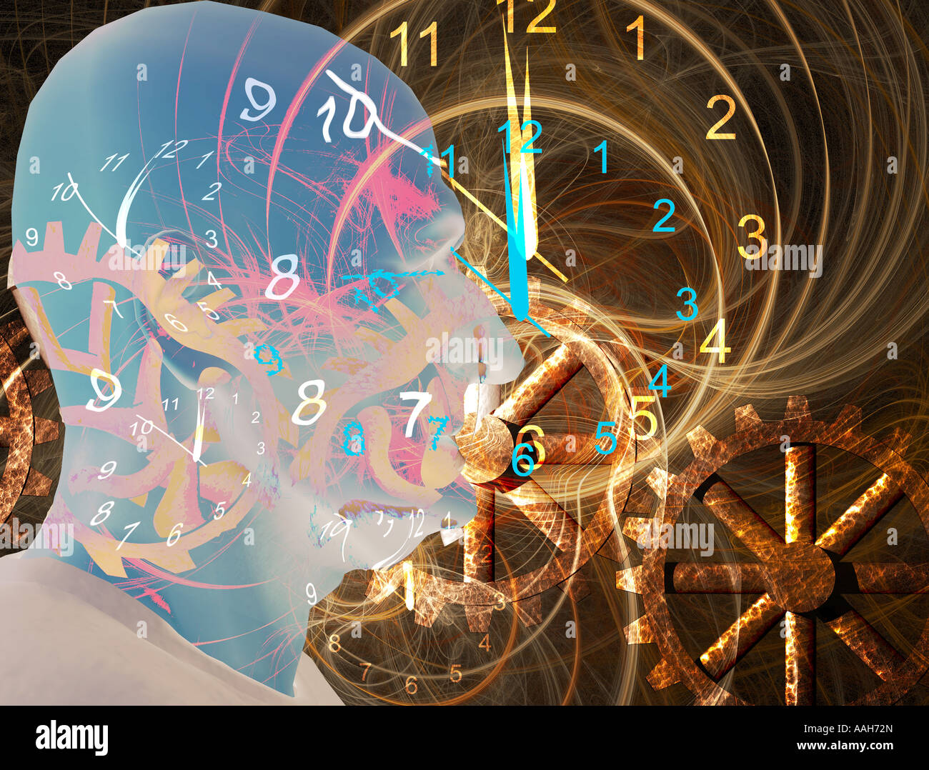 Warped time - Stock Image