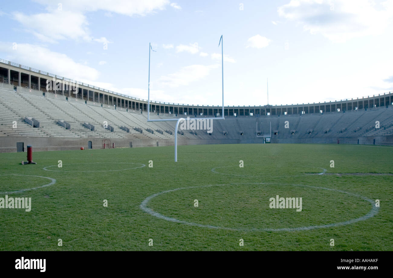 scene from harvard stadium, harvard university, cambridge, massachusetts - Stock Image