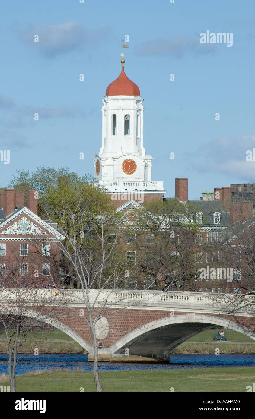 One of the many belltowers at Harvard University, Cambridge, Massachusetts - Stock Image