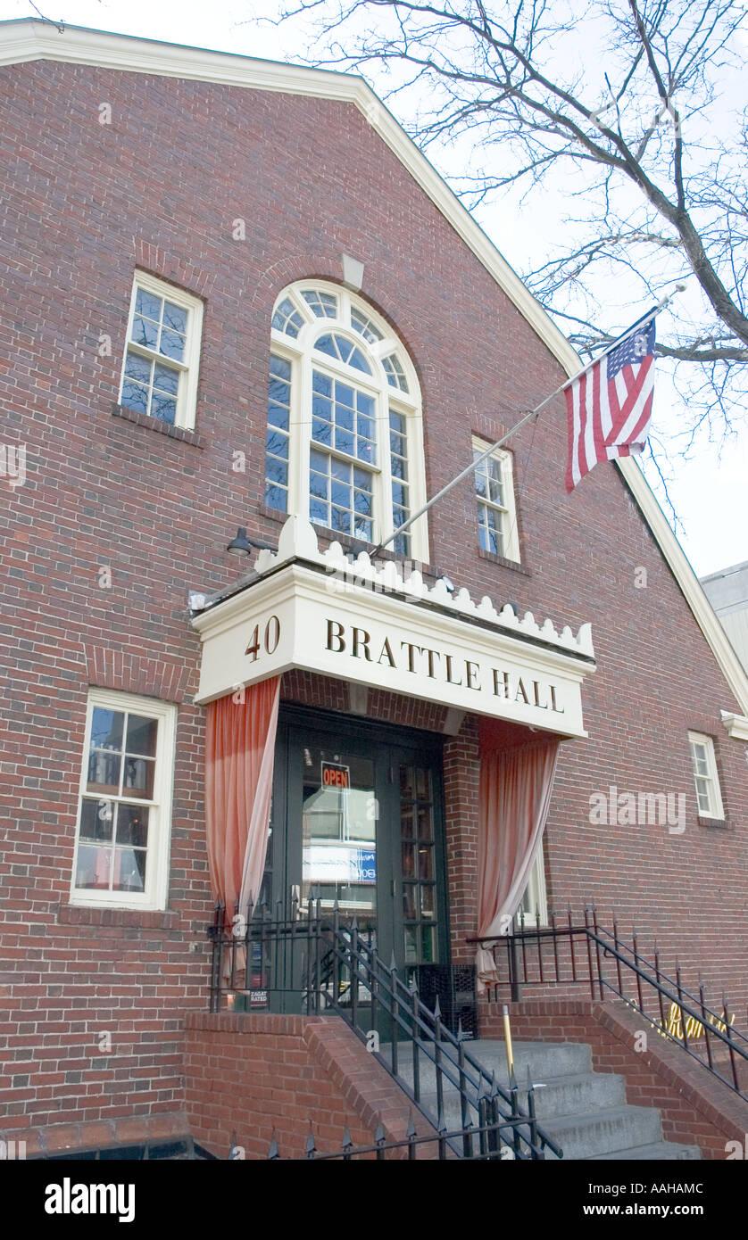 The Brattle Theater in Harvard, Cambridge, Massachusetts - Stock Image
