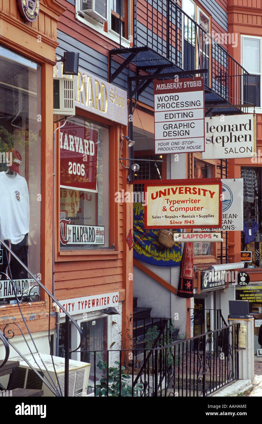 small businesses in harvard, cambridge, massachusetts - Stock Image