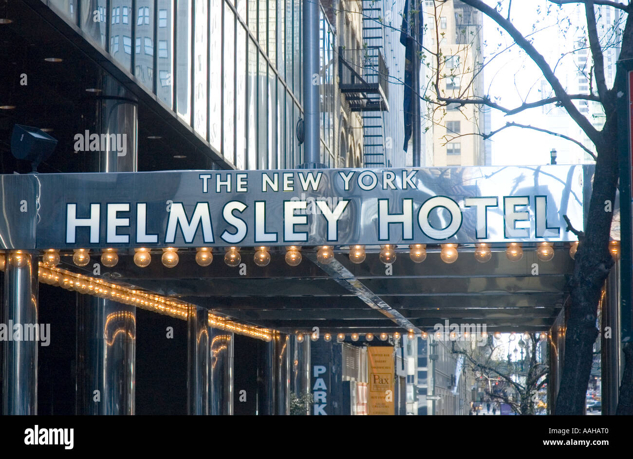 the helmsley hotel on 42nd street in new york city Stock Photo