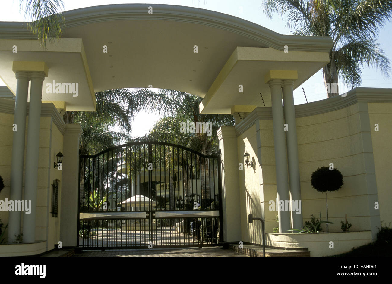Imposing Wrought Iron Entrance Gates To Luxury Home In Rosebank A Suburb Of  Johannesburg South Africa