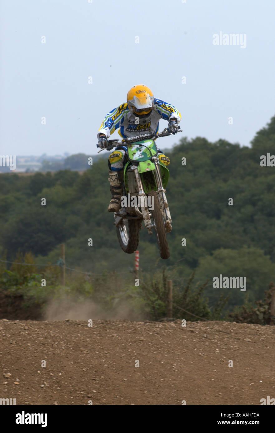 Racing Scrambling Moto cross. - Stock Image