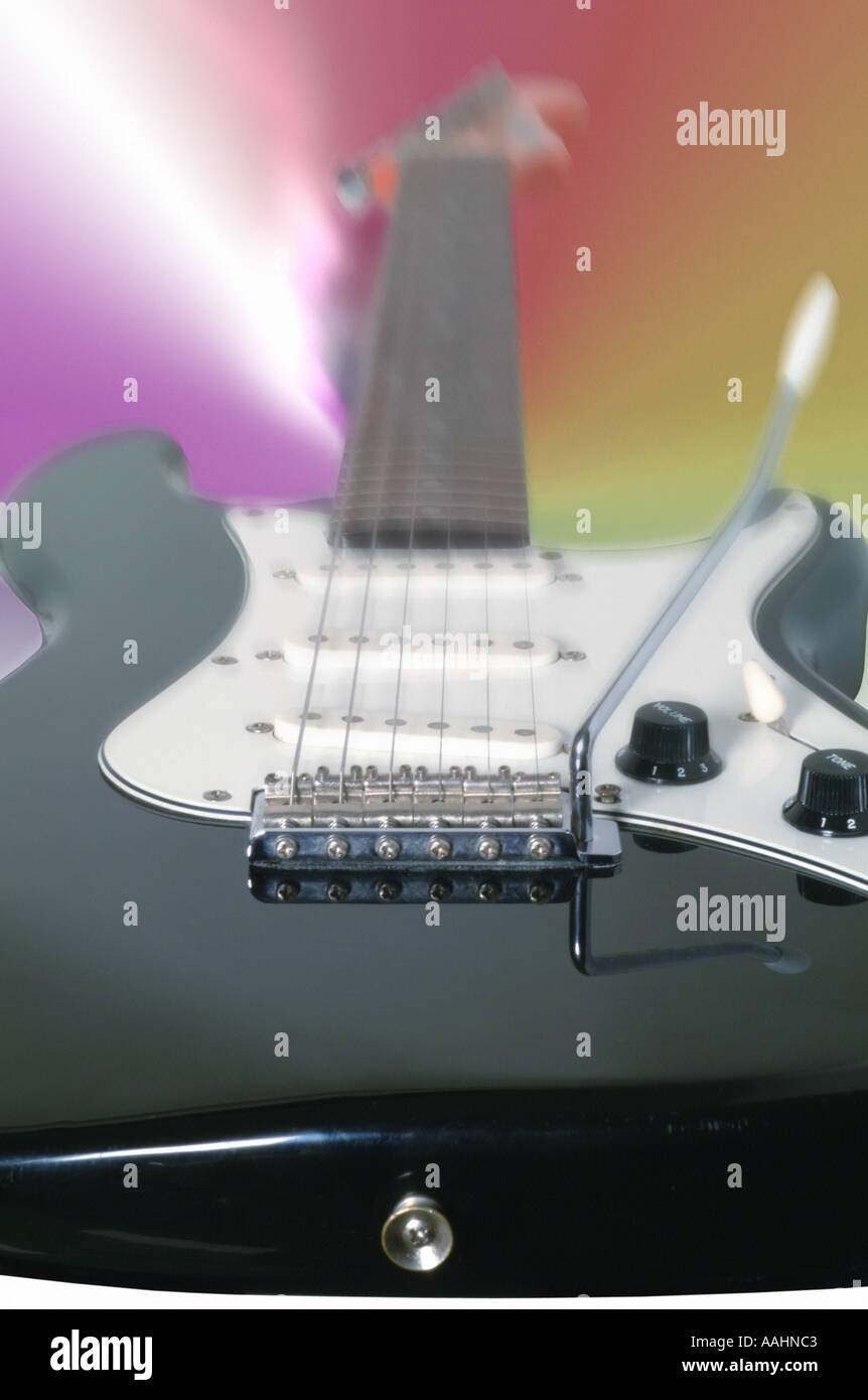 Electric Guitar fender squire bullet - Stock Image