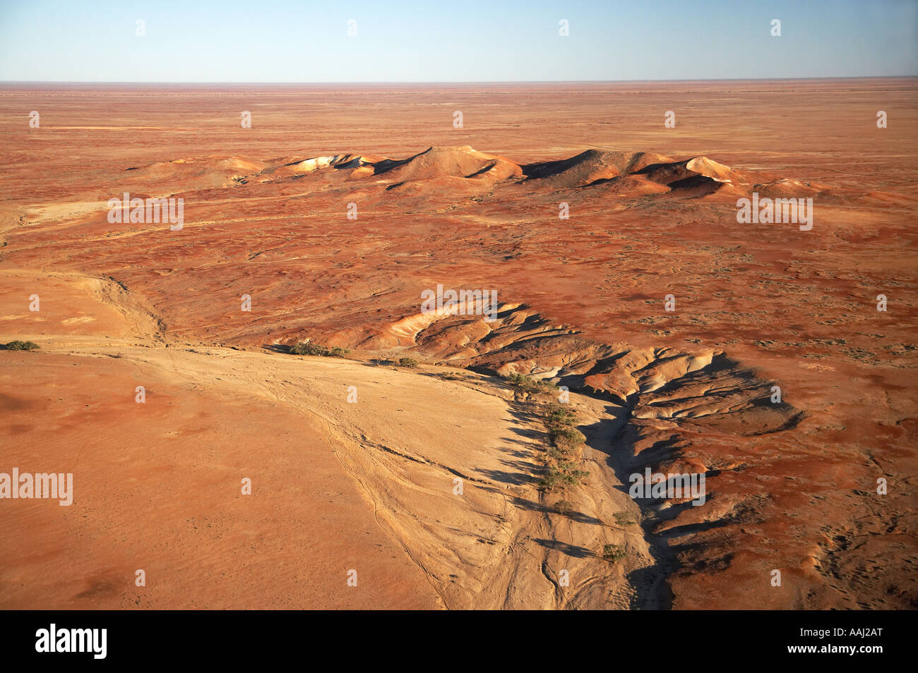 Painted Hills near William Creek Outback South Australia Australia aerial - Stock Image