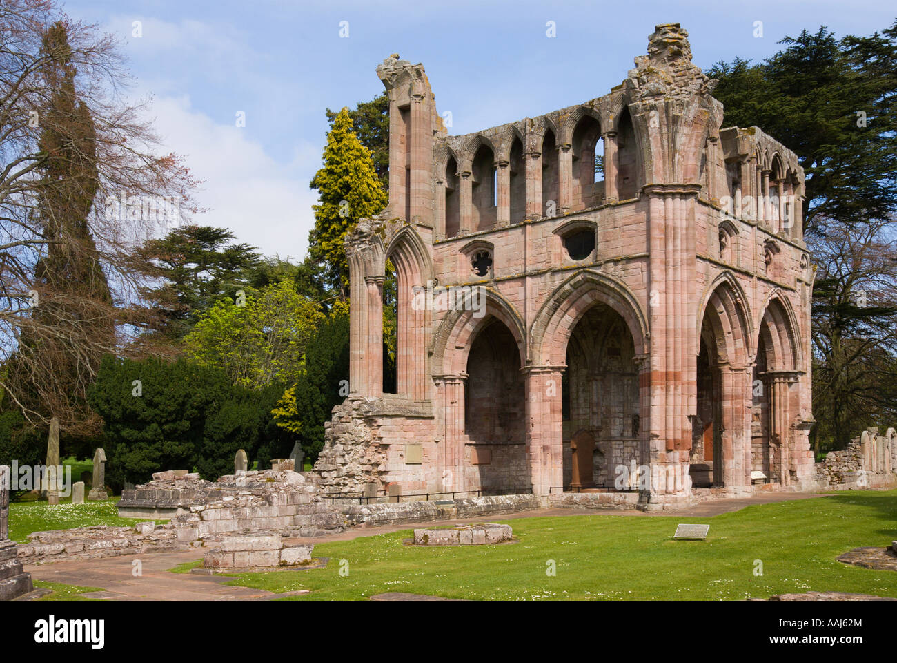 Dryburgh Abbey resting place of Sir Walter Scott and General Douglas Haig Scottish Borders UK - Stock Image