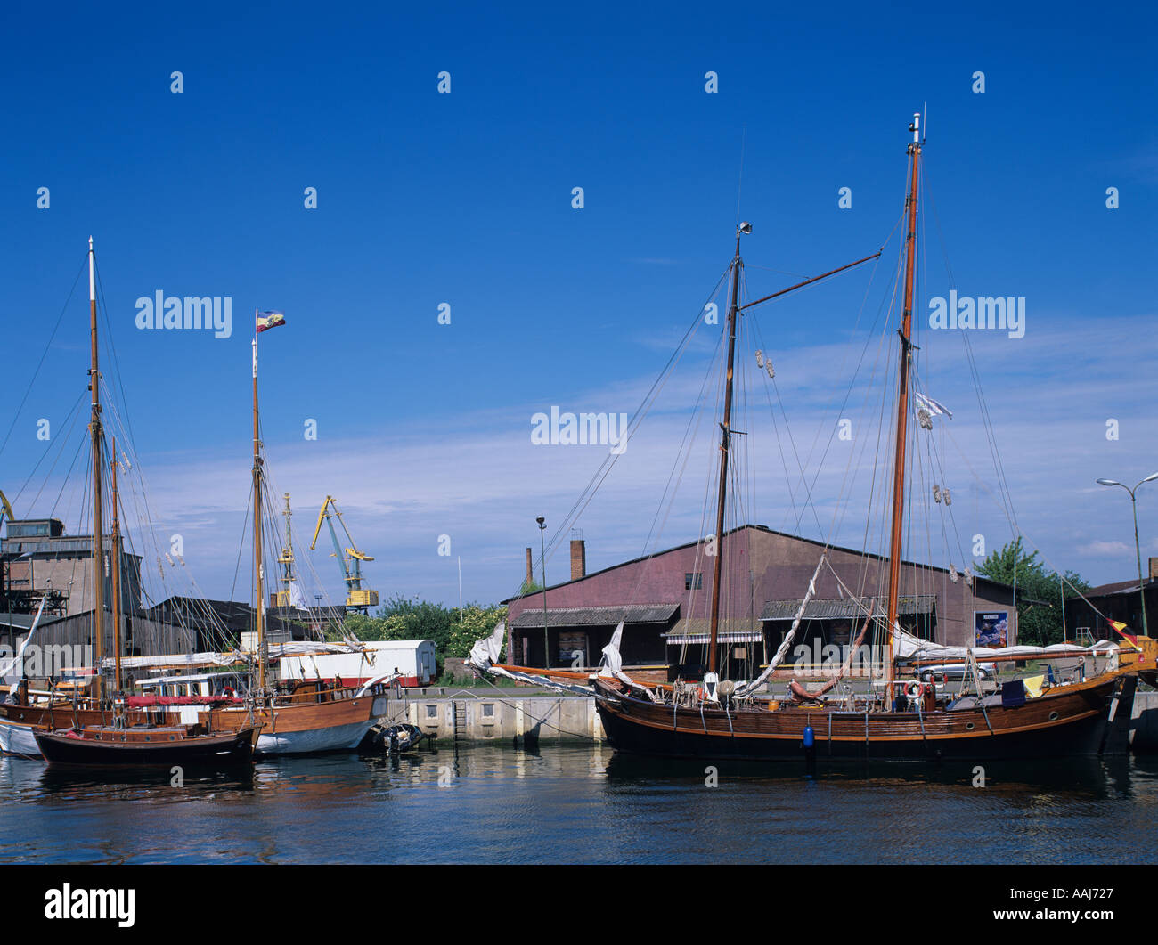 Europa Europe Germany Deutschland Wismar Mecklenburg Vorpommern  Mecklenburg Western Pomerania Hafen Harbour Stock Photo