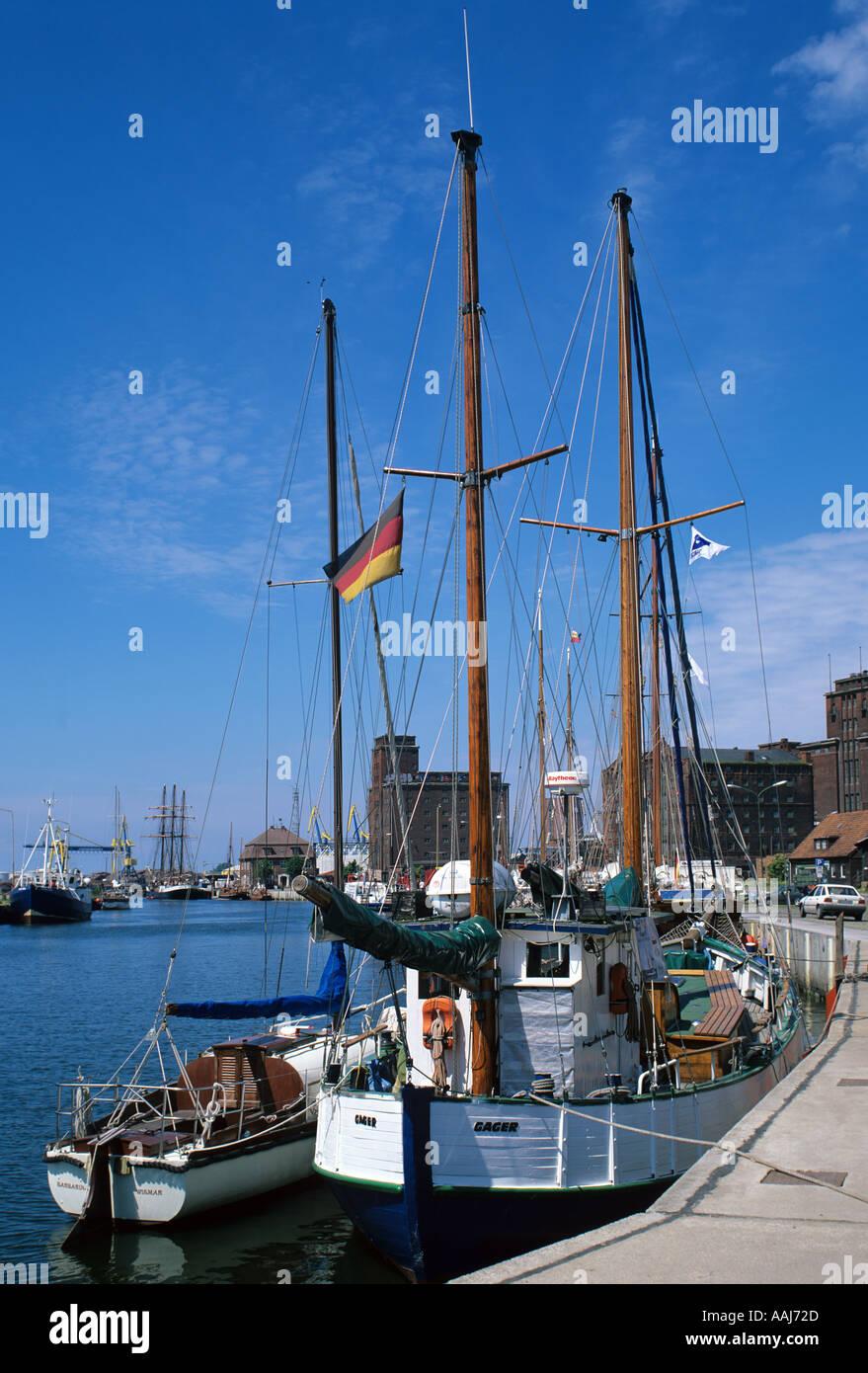 Europa Europe Germany Deutschland Wismar Mecklenburg Vorpommern  Mecklenburg Western Pomerania Hafen Harbour - Stock Image