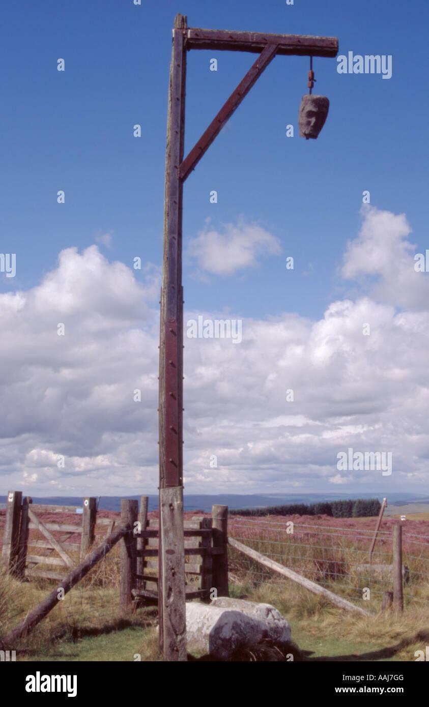 Winter's Gibbet, about 3 miles north of Elsdon village, Northumberland, England, UK. - Stock Image