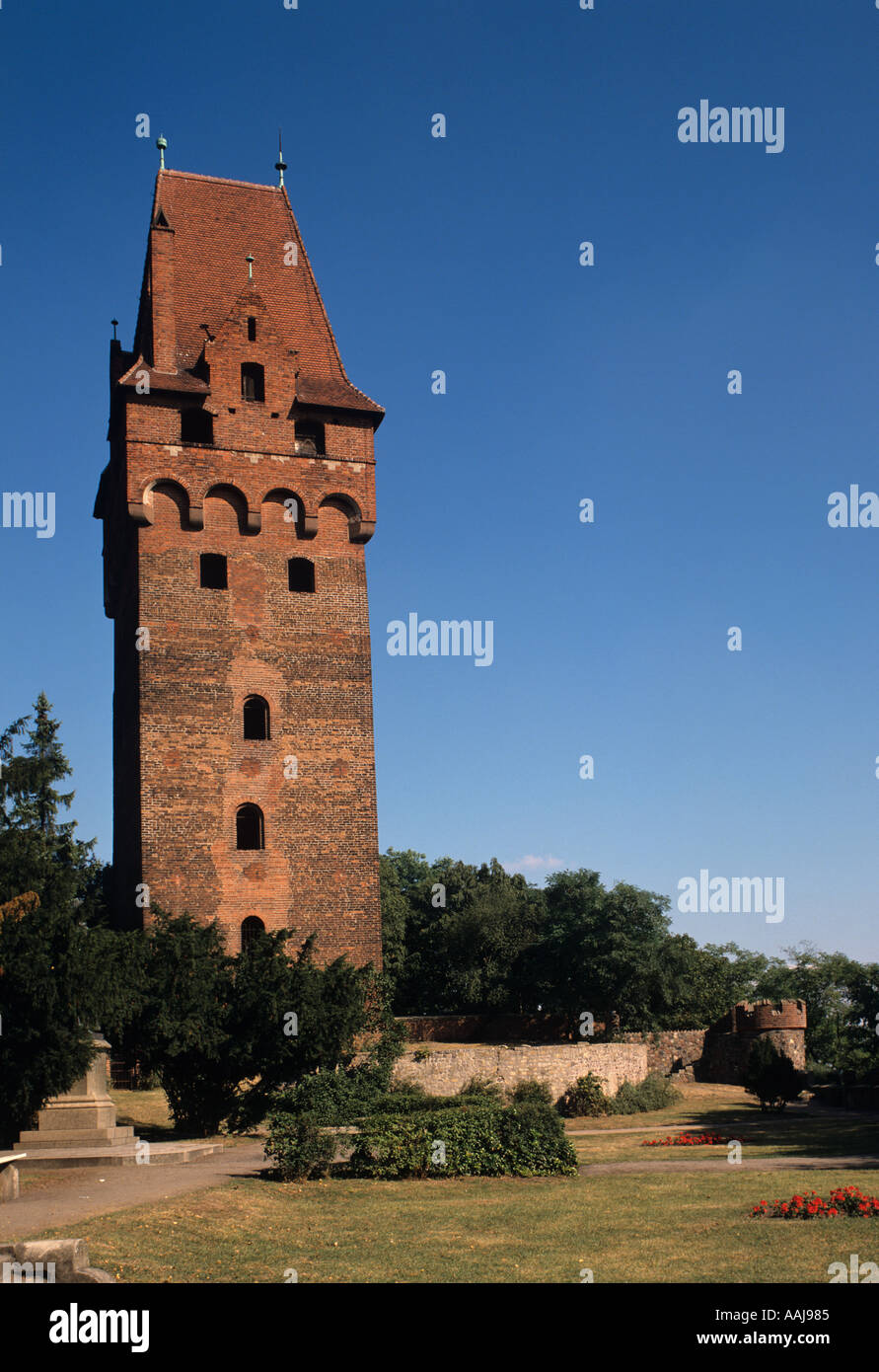 Europa Europe Deutschland Germany Tangermuende Sachsen Anhalt Kapitelturm Kapitel Turn Tower Saxony Anhalt Stock Photo