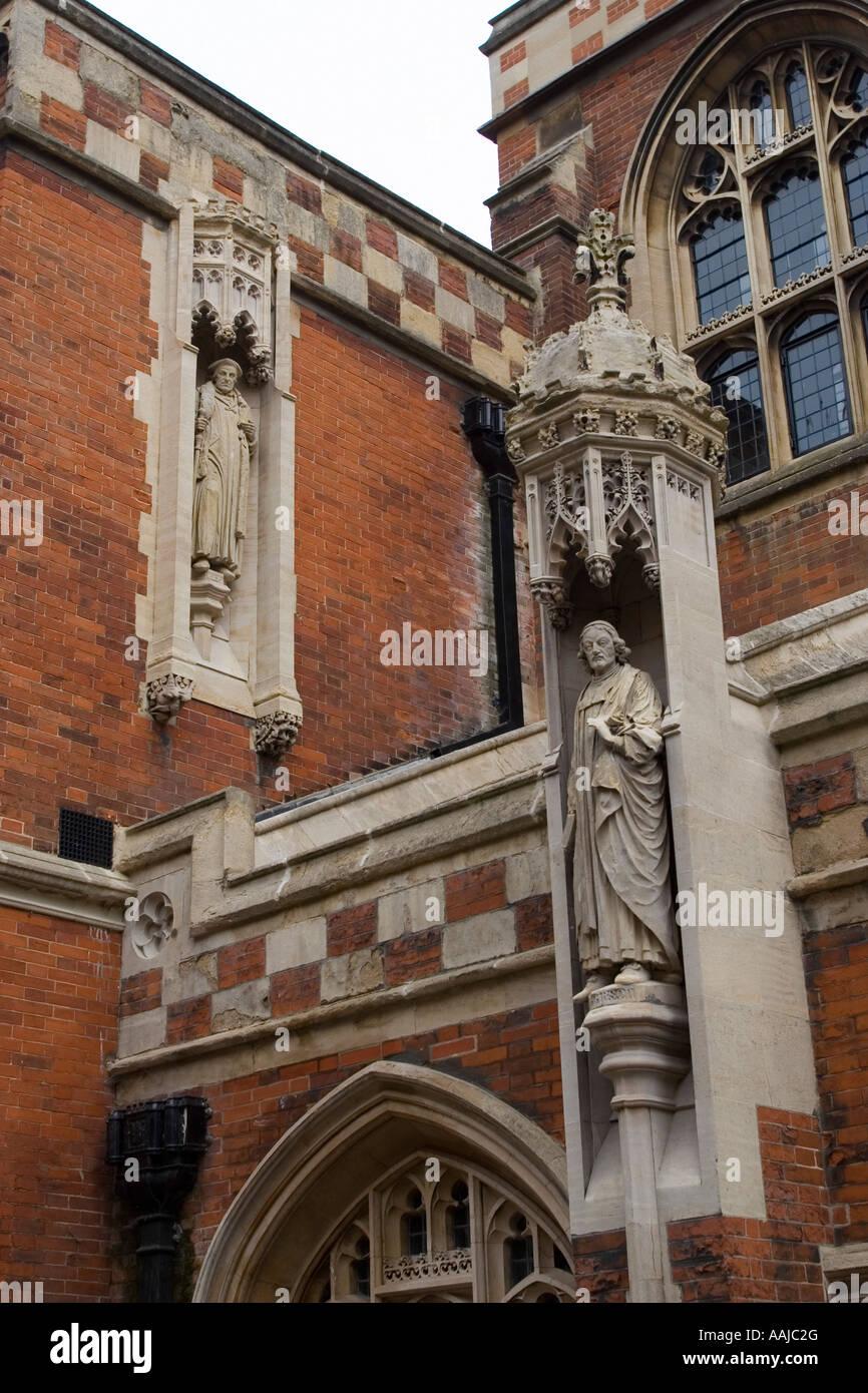 Chapel opposite Jesus College entrance Cambridge England - Stock Image