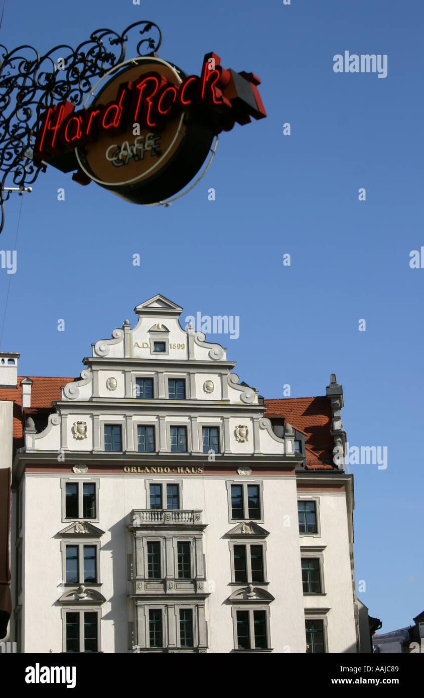 Orlando Haus orlando house munich bavaria germany stock photos orlando house