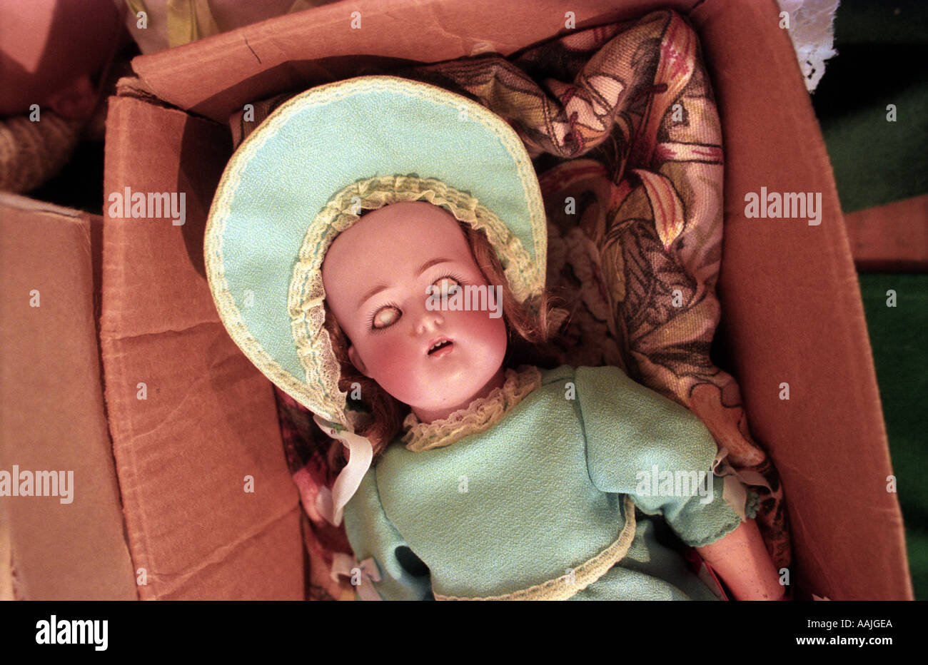 Antique doll up for auction at Sotheby s in West Sussex Picture by Andrew Hasson June 19th 1996 - Stock Image