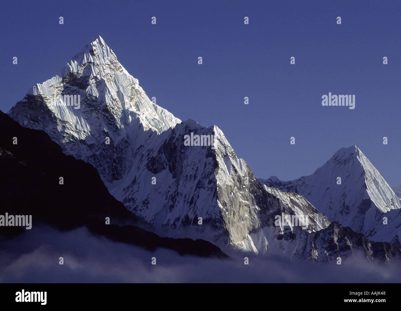 Ama Dablam Khumbu Himal Nepal - Stock Image