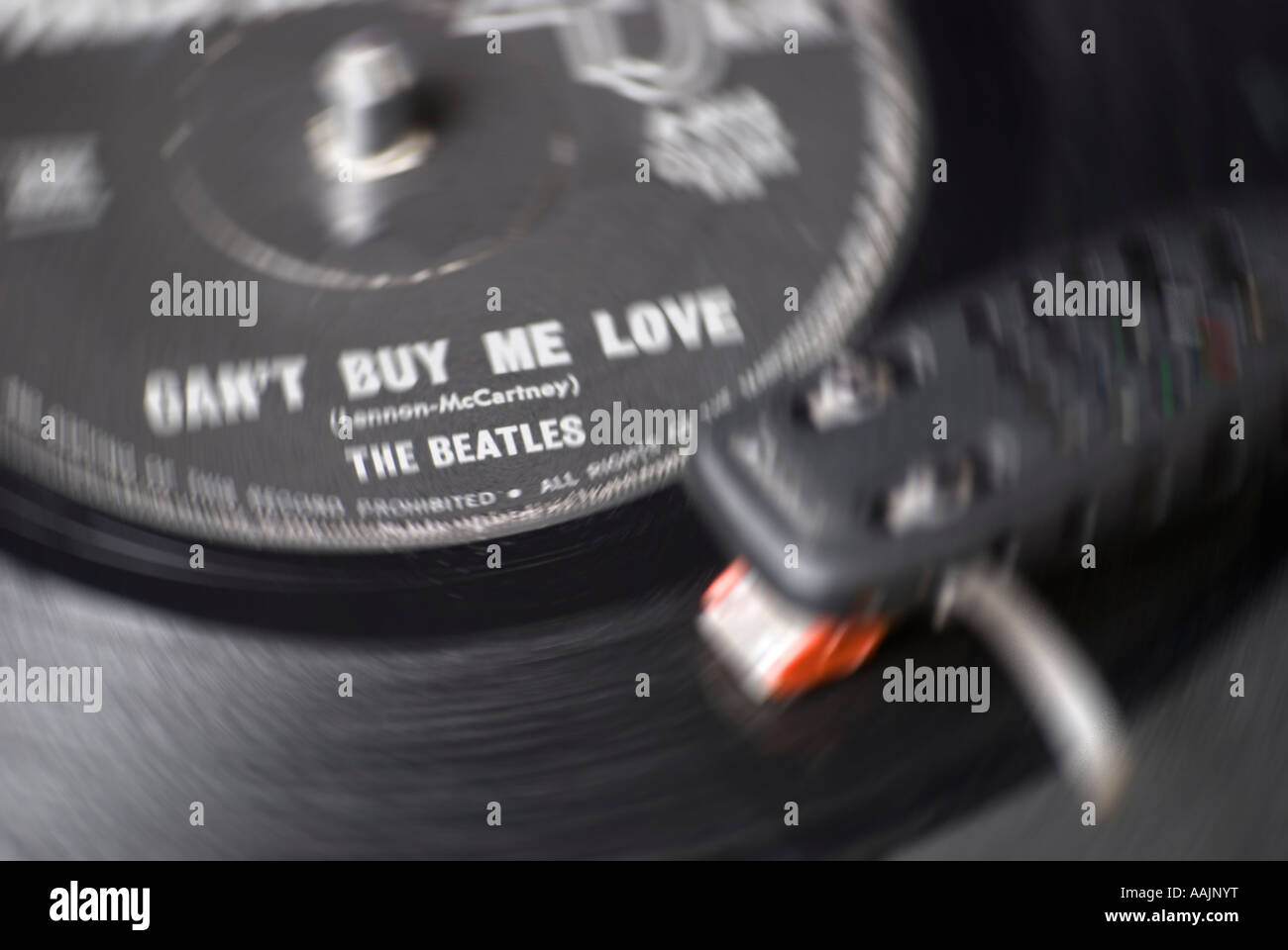 Beatles 45 rpm record of Can t Buy Me Love - Stock Image