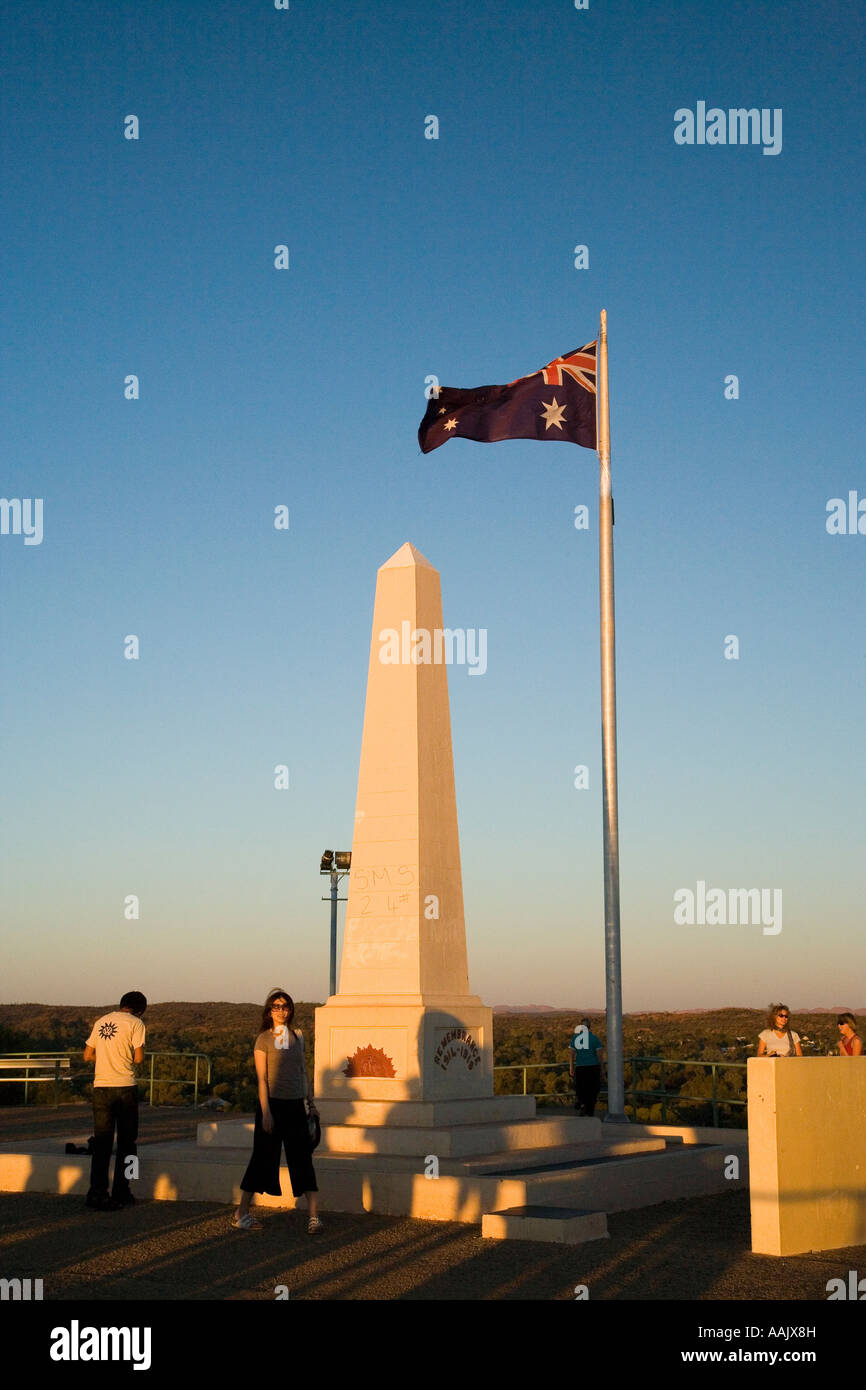 Memorial Anzac Hill Alice Springs Outback Northern Territory Australia - Stock Image