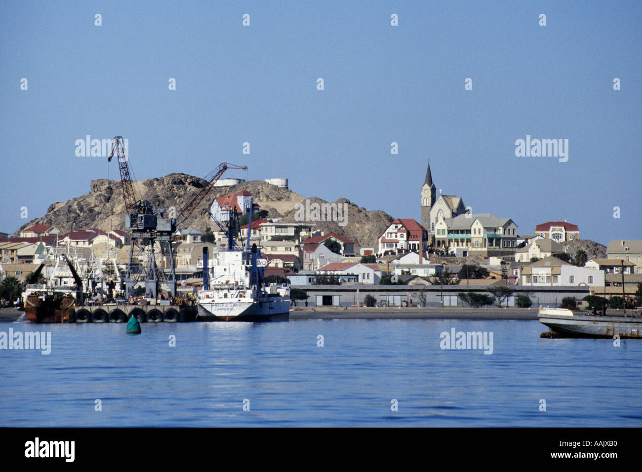 Luderitz town from the bay Luderitz Namibia Africa - Stock Image