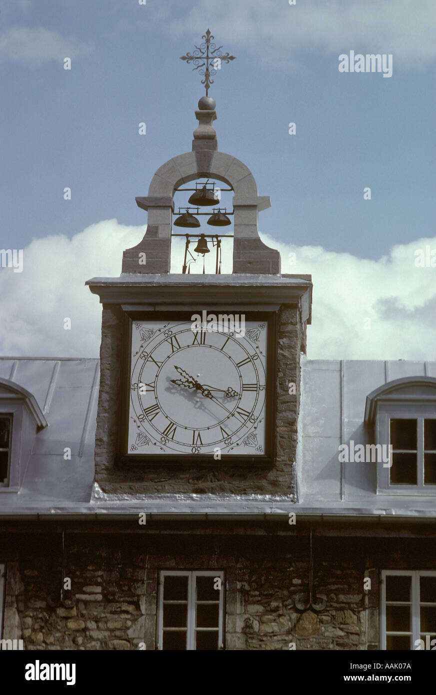 Oldest clock Sulpician Seminary Montréal QC extensive collection of Montreal images available  Stock Photo