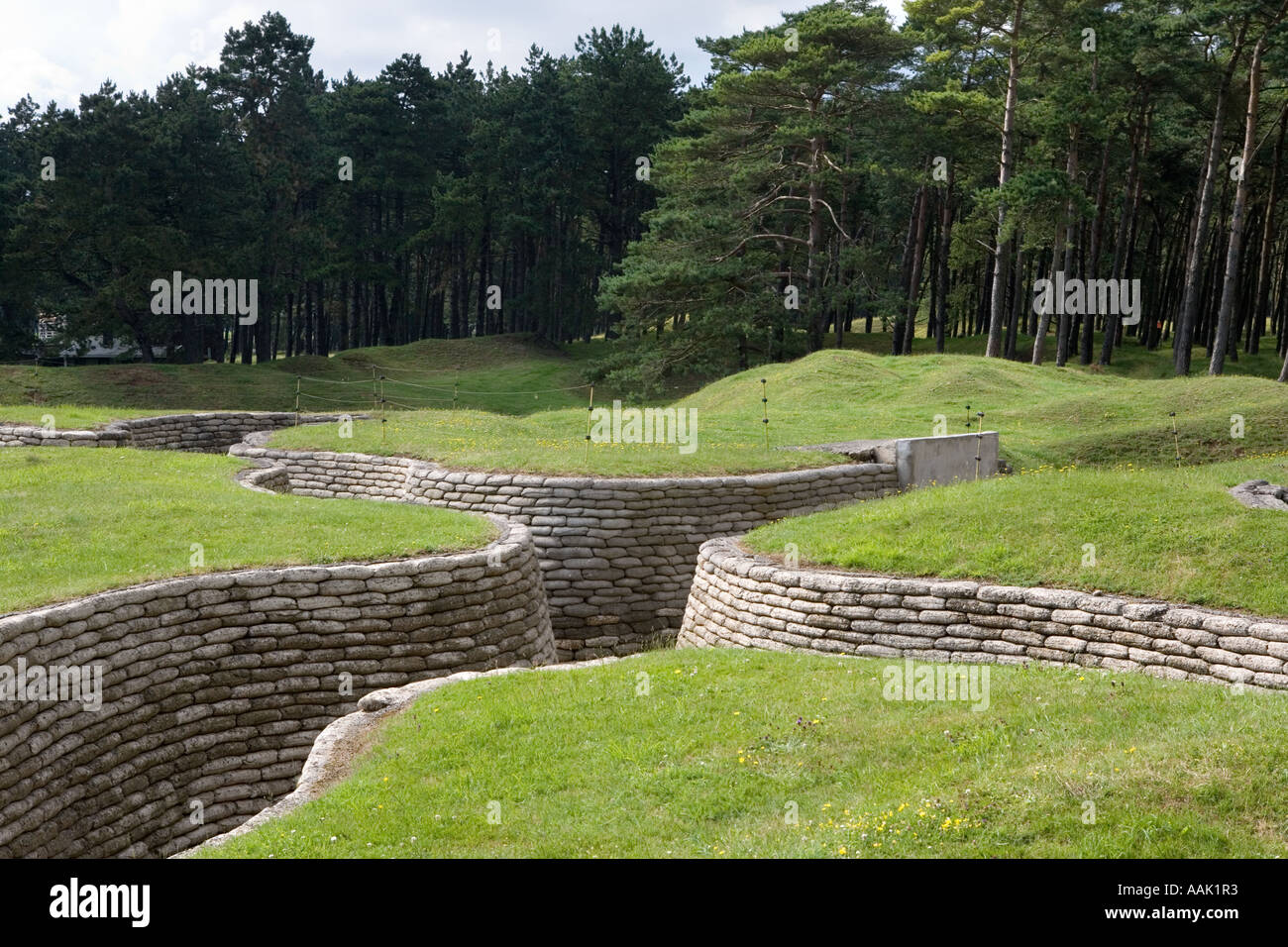First World War trenches at Vimy ridge northern France - Stock Image