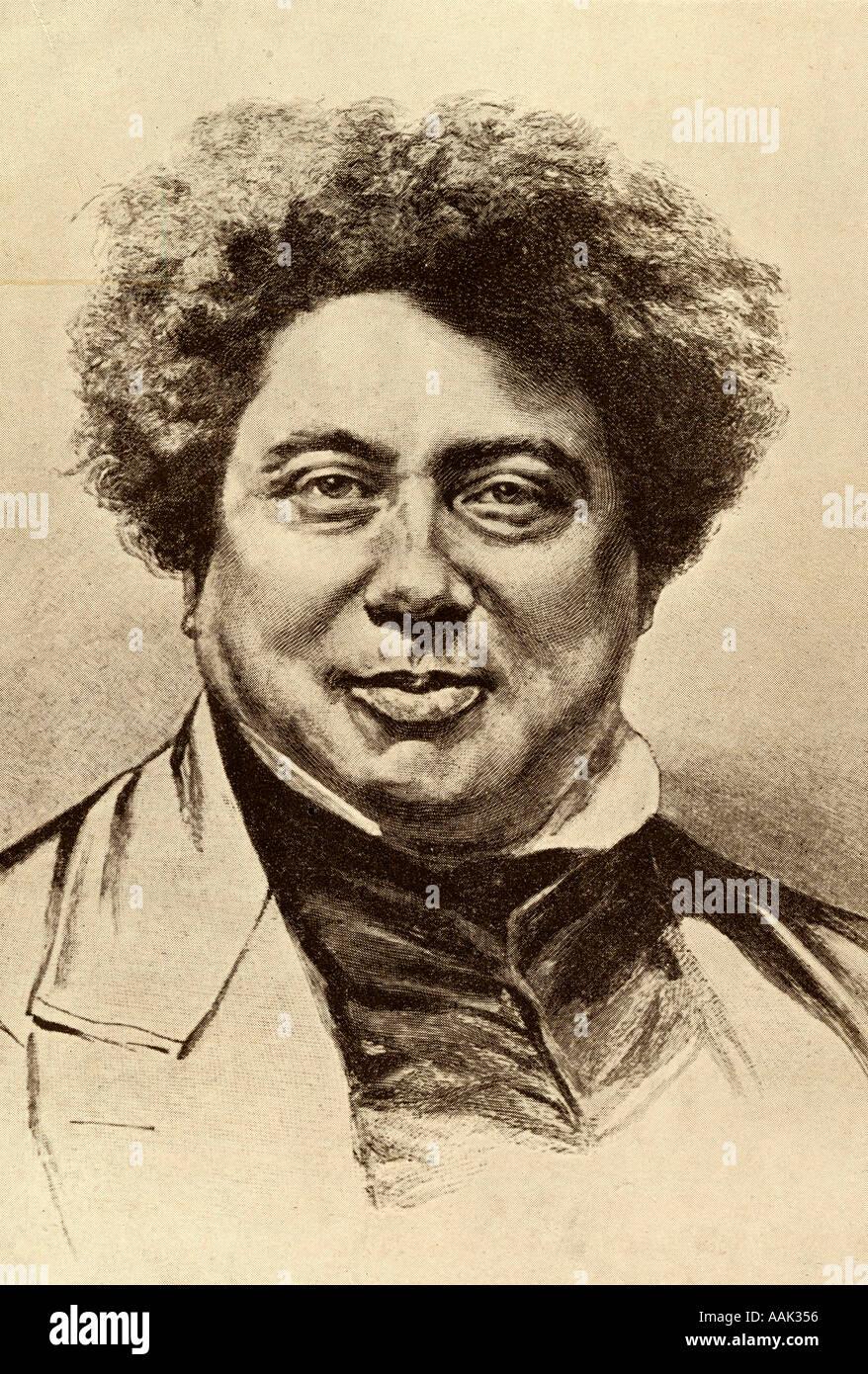 Alexandre Dumas Senior, aka Alexandre Dumas père, 1802 - 1870.  French author. - Stock Image
