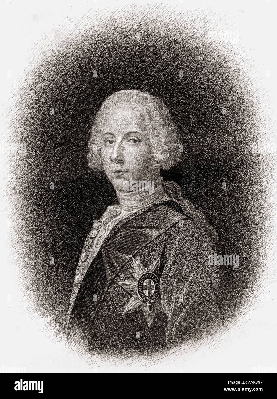 Charles Edward Louis John Casimir Sylvester Severino Maria Stuart, aka The Young Pretender, The Young Chevalier' and Bonnie Prince Charlie, 1720-1788. - Stock Image