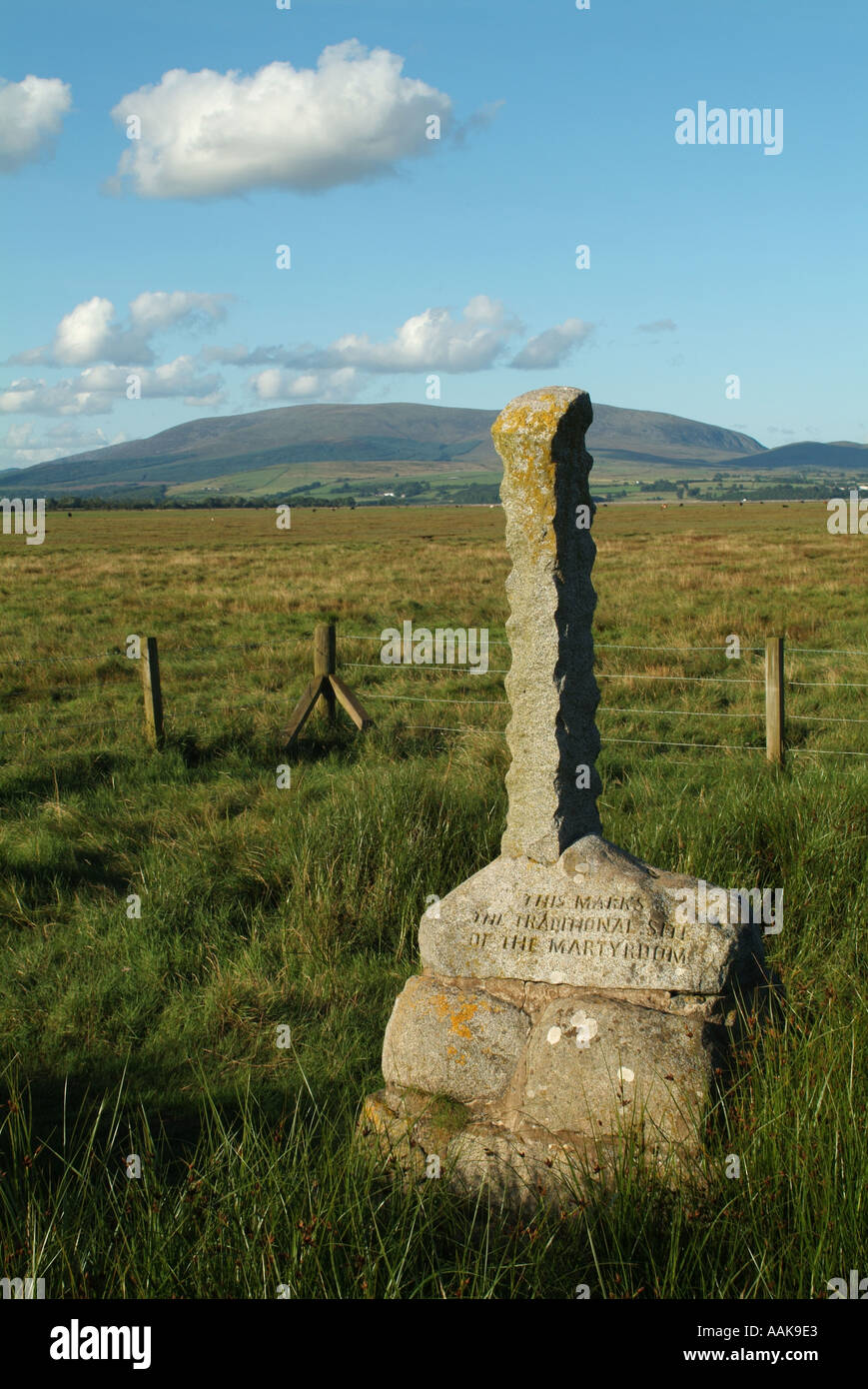 Monument to the Wigtown martyrs, Wigtown, Dumfries and Galloway, Scotland, UK. - Stock Image
