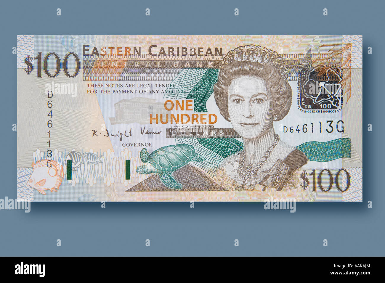 A 100 dollar bill from the EC or Eastern Caribbean. - Stock Image