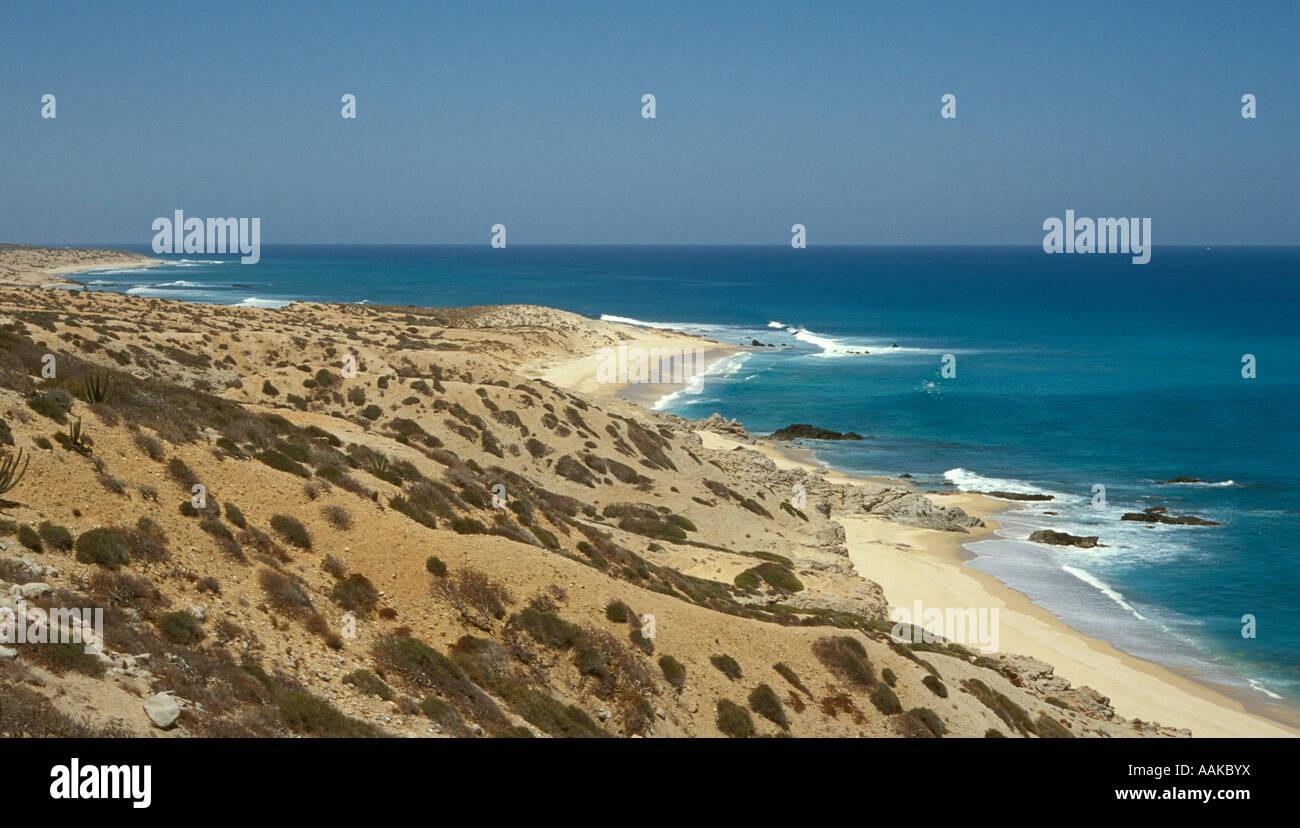 Arid coastline of southern Baja California Mexico - Stock Image