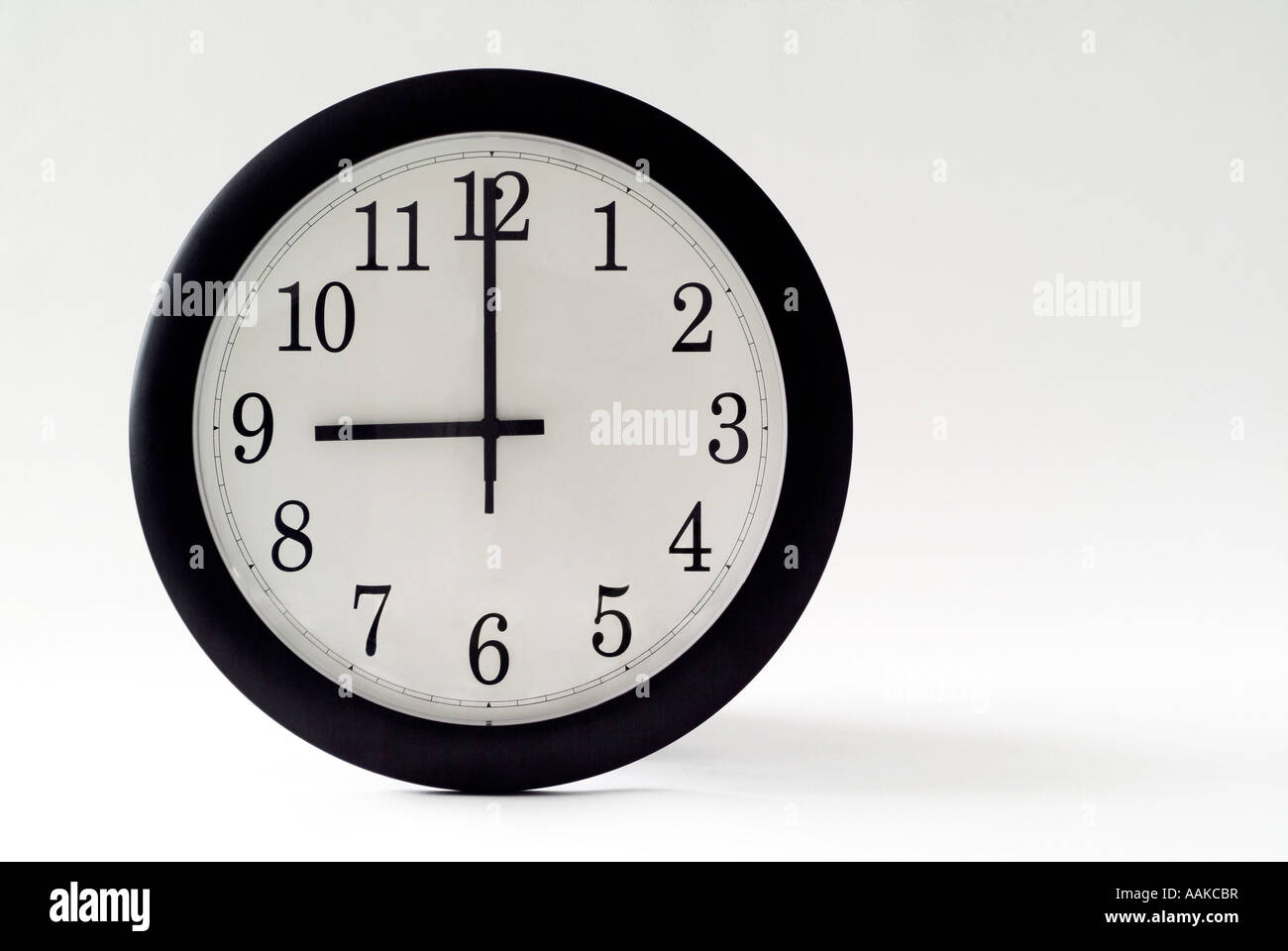 Clock at Nine O Clock - Stock Image