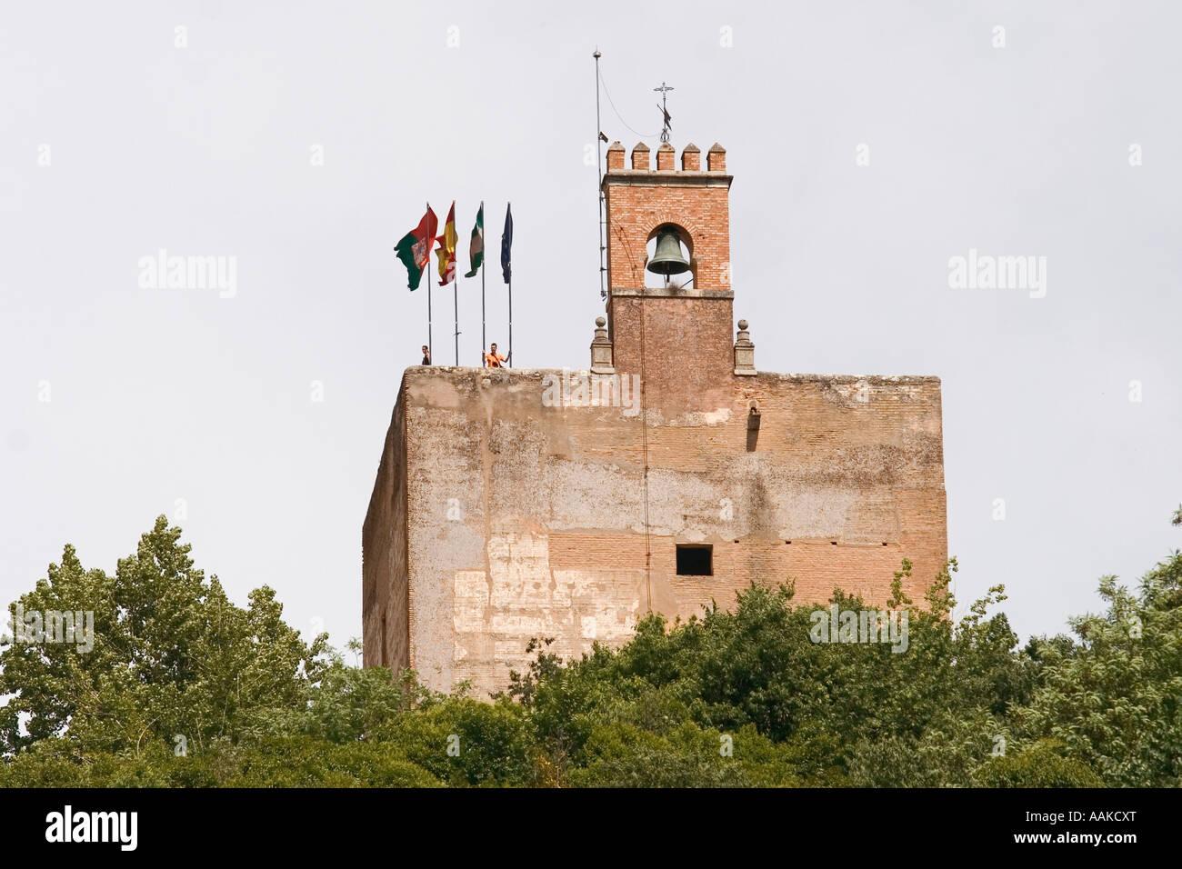 Torre de la Vela Alcazaba La Alhambra Granada Spain Stock Photo