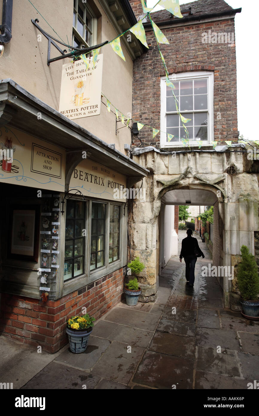 The House of the Tailor of Gloucester Beatrix Potter museum and shop in Gloucester, UK - Stock Image