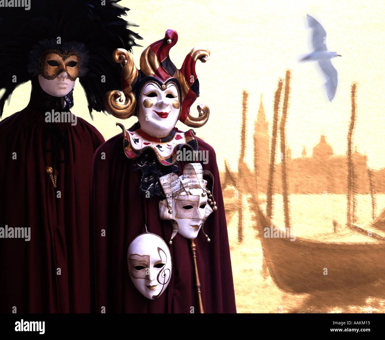 IT - VENICE: Carnival time in Venice - Stock Image