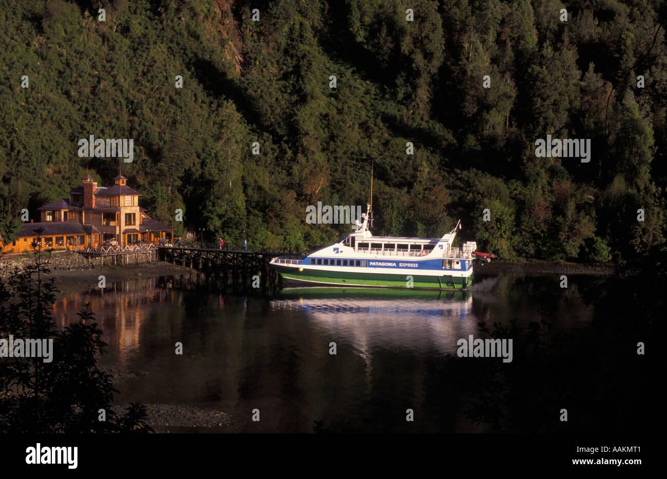 Termas de Puyuhuapi hotel Chile - Stock Image