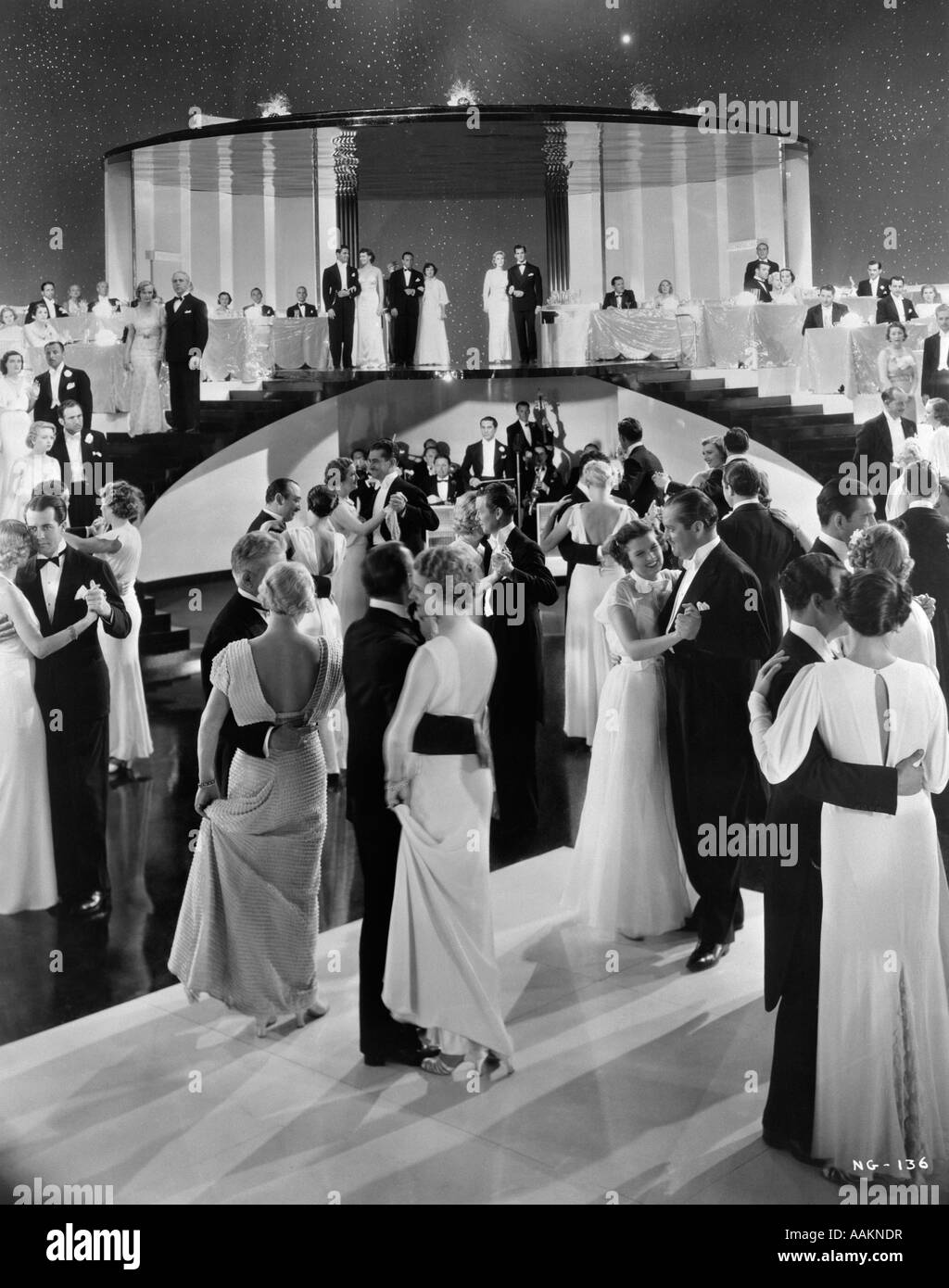 1930s Couples Dancing On Movie Set Of Swing Time Which Starred Fred Stock Photo Alamy