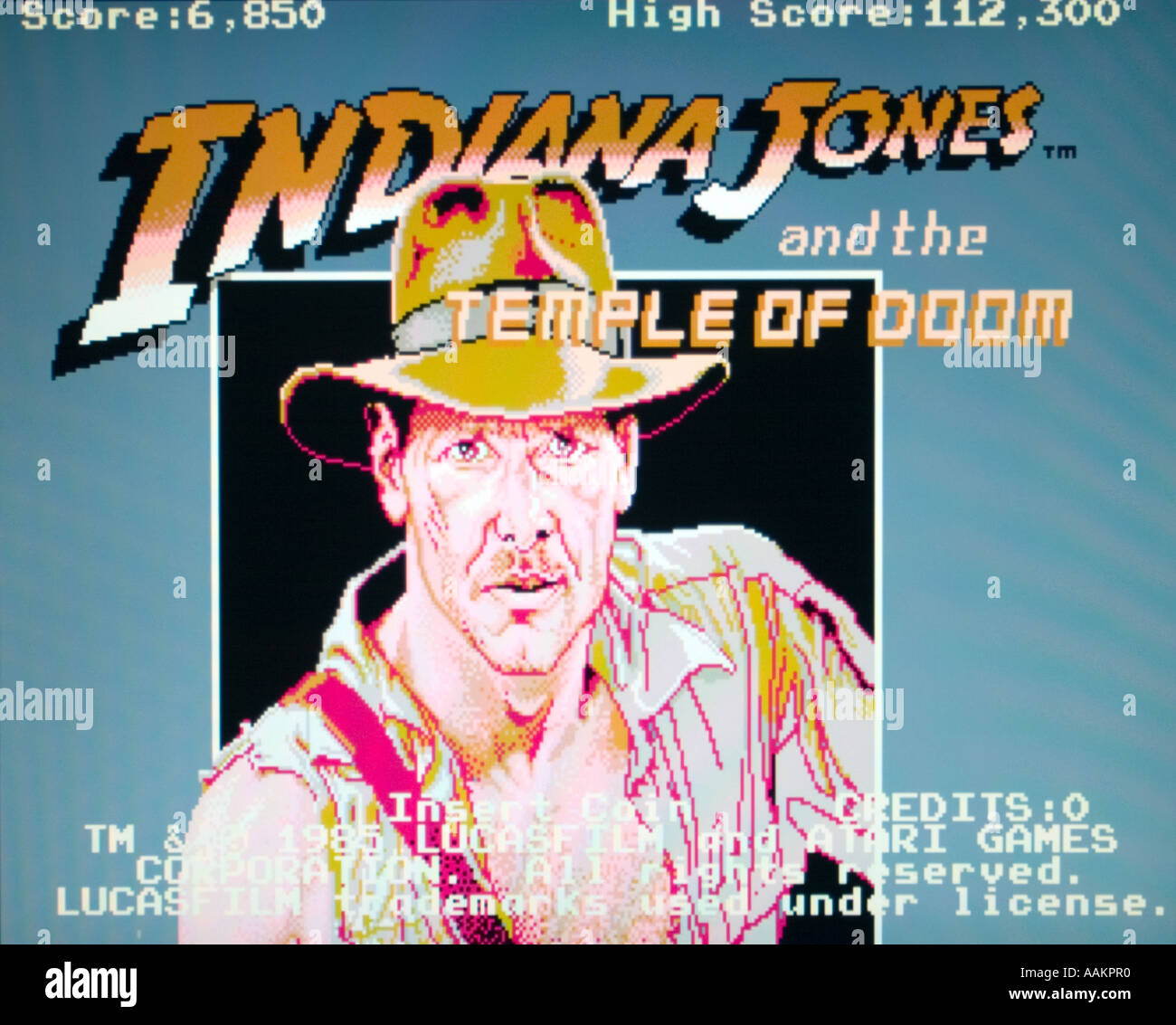 Indiana Jones and the Temple of Doom Lucasfilm Atari Games 1985 vintage  arcade videogame screenshot - 92beeab1b6a2