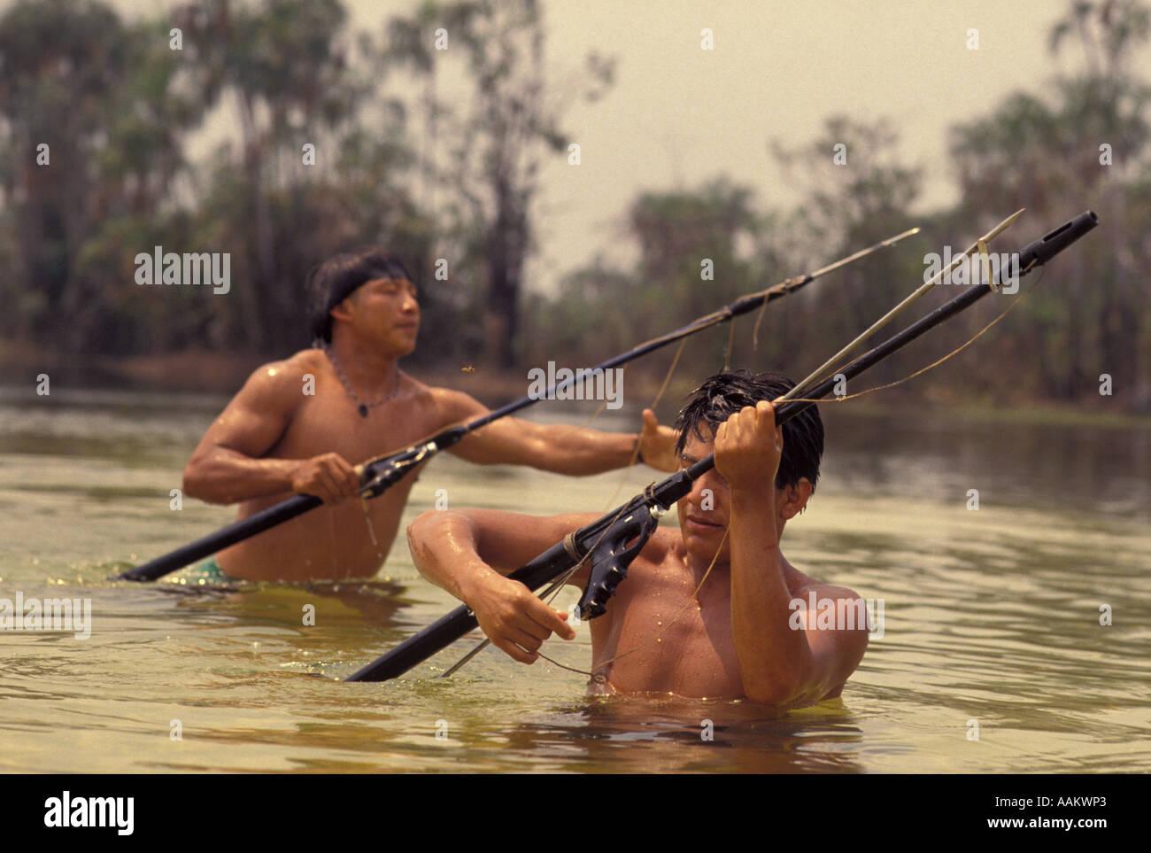 Xingu, Amazon rainforest, Brazil. Yaulapiti indigenous ...