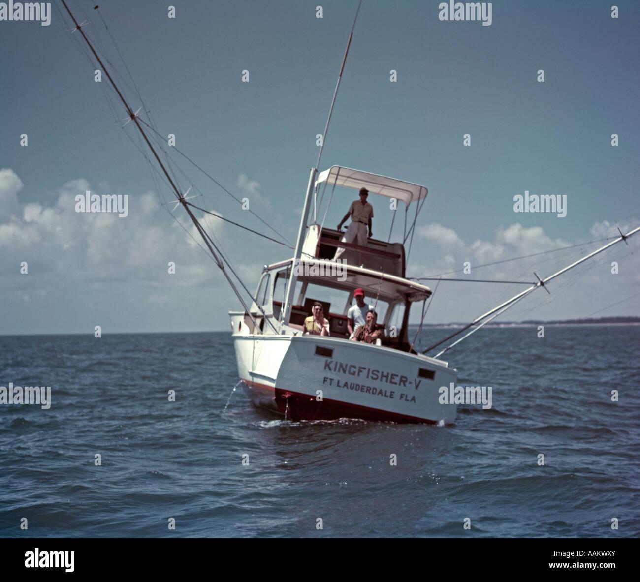 1960s deep sea fishing boat men fisherman fort lauderdale for Deep sea fishing fort lauderdale