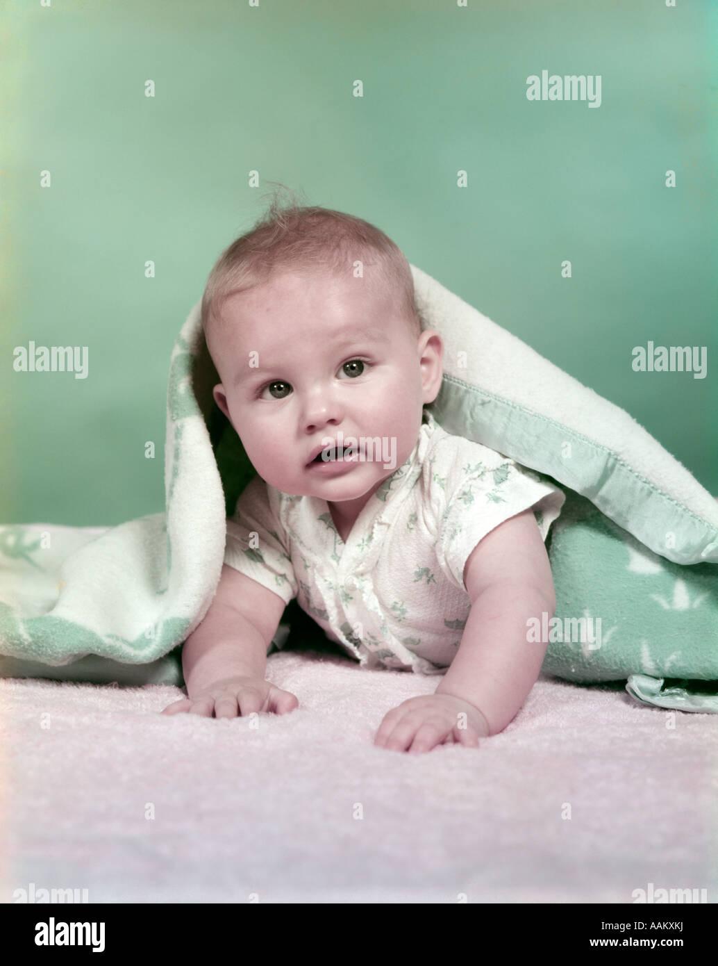 1950s BABY BLANKET - Stock Image