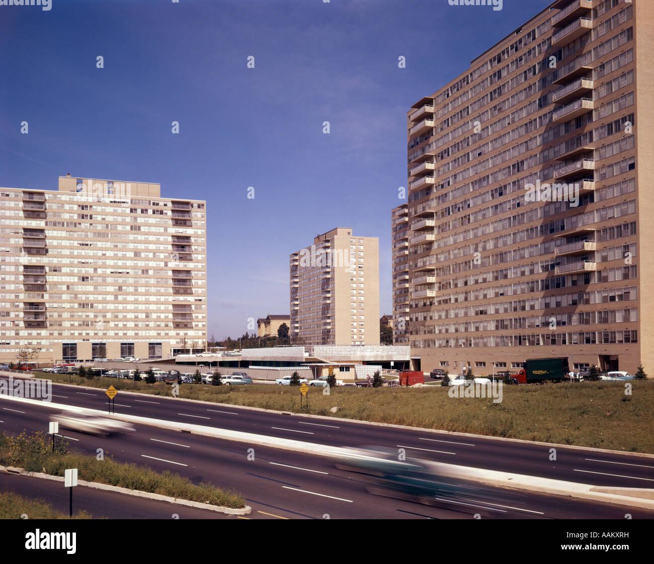 1950s 1960s PHILADELPHIA APARTMENT BUILDINGS SPRING GARDEN