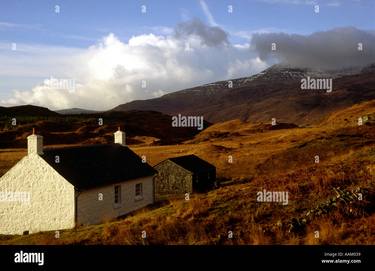 Cottage in Glen More Isle of Mull Argyll Scotland Stock Photo